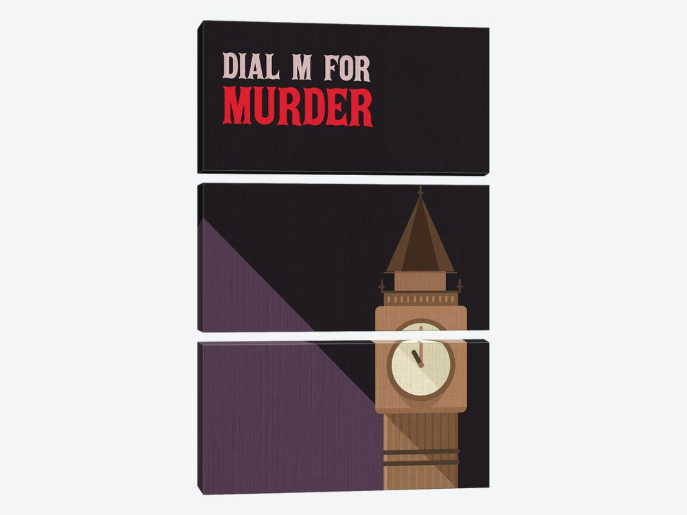Dial M For Murder Vintage Poster by Popate 3-piece Canvas Art Print