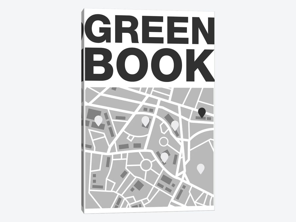 Green Book Minimalist Poster - Map by Popate 1-piece Canvas Print