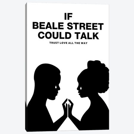 If Beale Street Could Talk Minimalist Poster - Black and White Canvas Print #PTE261} by Popate Canvas Wall Art