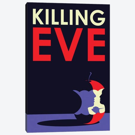 Killing Eve Minimalist Poster Canvas Print #PTE263} by Popate Canvas Wall Art