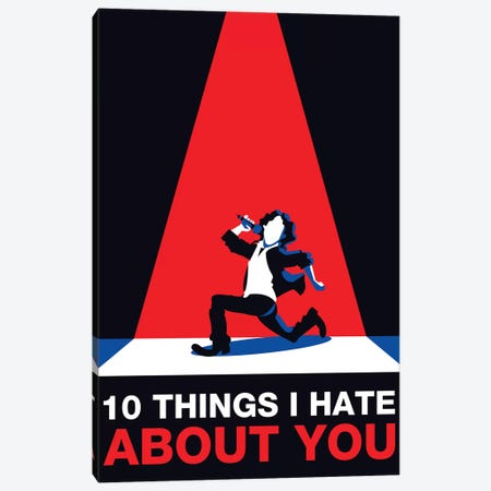 10 Things I Hate About You Minimalist Poster 3-Piece Canvas #PTE268} by Popate Canvas Artwork