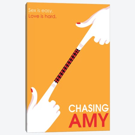 Chasing Amy Mininmalist Poster 3-Piece Canvas #PTE270} by Popate Canvas Art Print