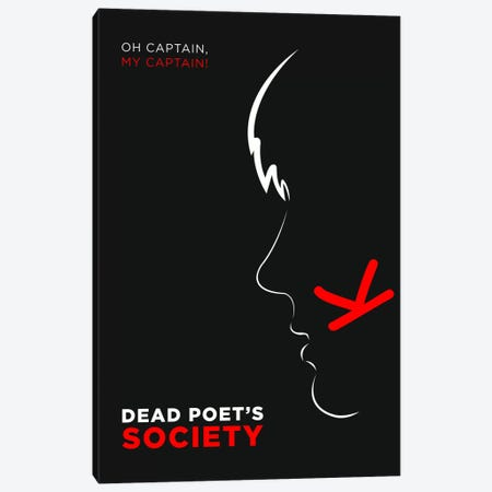 Dead Poet's Society Minimalist Poster 3-Piece Canvas #PTE271} by Popate Art Print