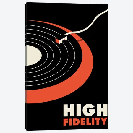 High Fidelity Minimalist Poster 3-Piece Canvas #PTE273} by Popate Canvas Print