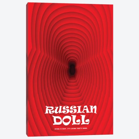 Russian Doll Minimalist Poster Canvas Print #PTE277} by Popate Canvas Wall Art