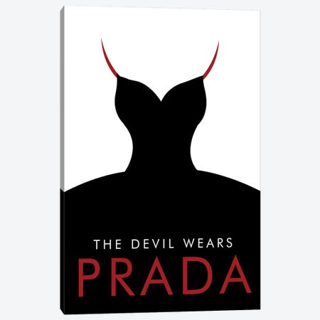 The Devil Wears Prada Minimalist Poster Canvas Print #PTE280} by Popate Canvas Wall Art
