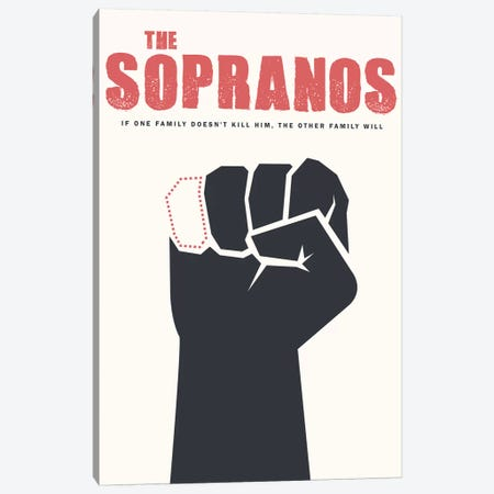 The Sopranos Minimalist Poster Canvas Print #PTE281} by Popate Canvas Art