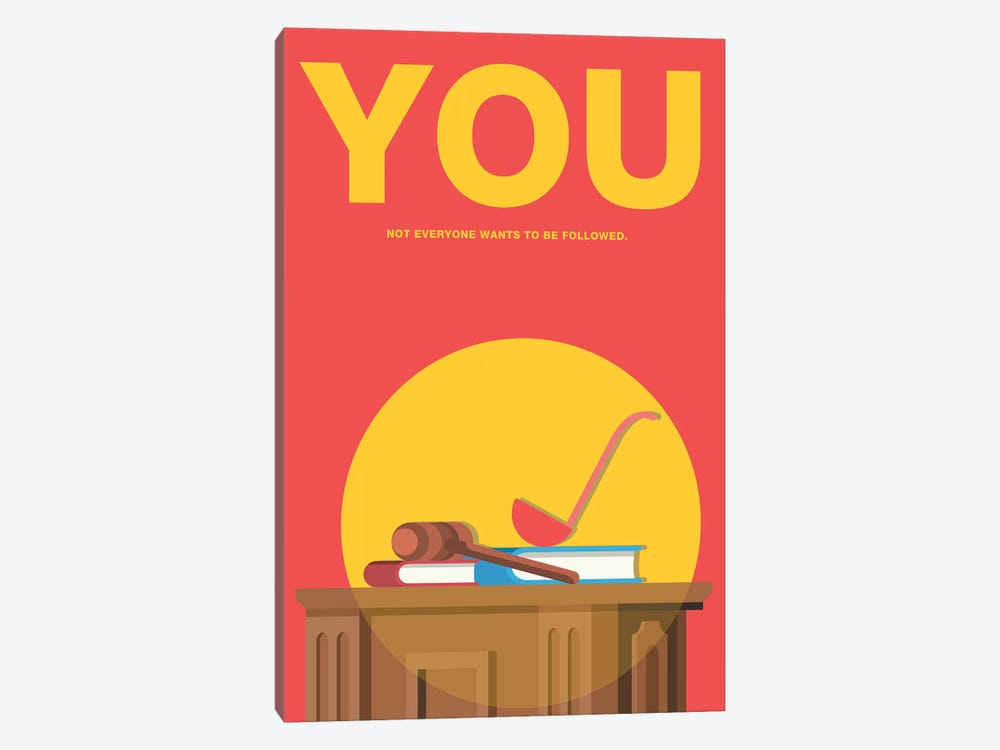 You Minimalist Poster by Popate 1-piece Canvas Print