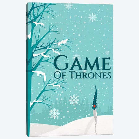 Game of Thrones Alternative Poster - Not Today Canvas Print #PTE284} by Popate Art Print