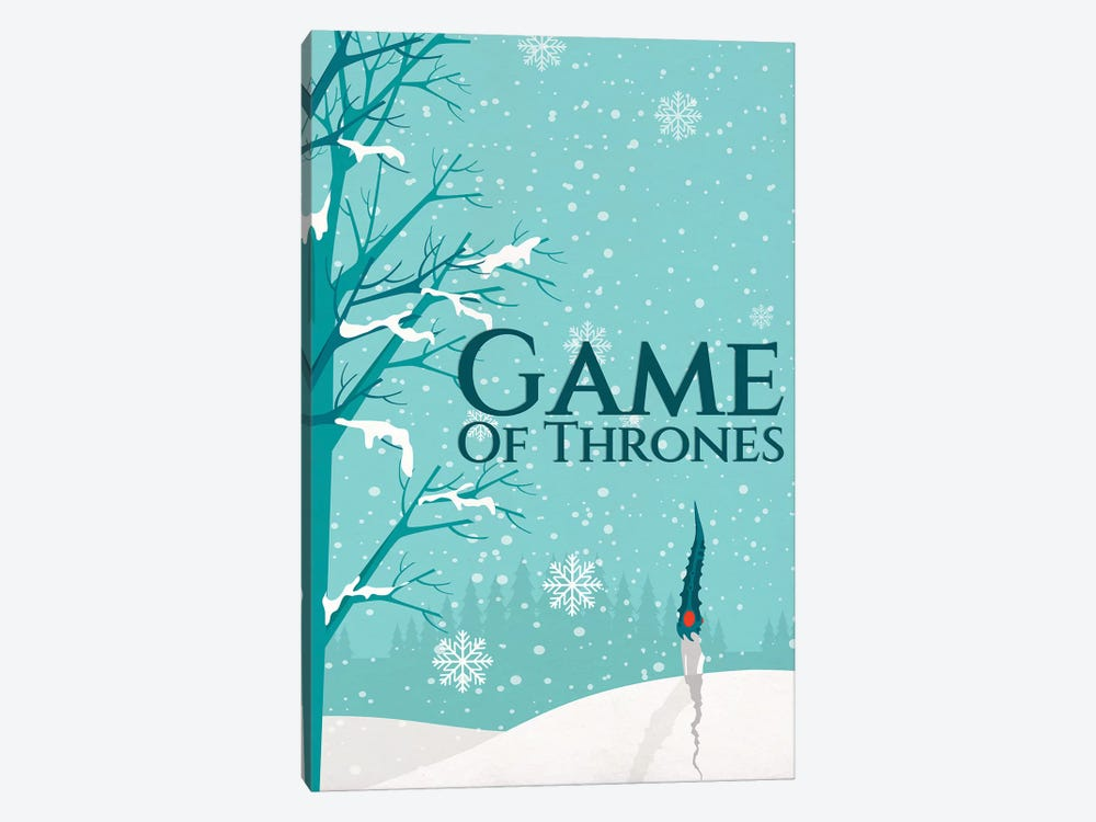 Game of Thrones Alternative Poster - Not Today by Popate 1-piece Canvas Print