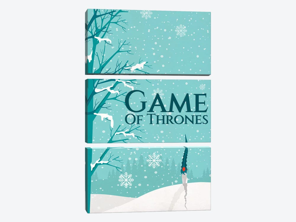 Game of Thrones Alternative Poster - Not Today by Popate 3-piece Canvas Print