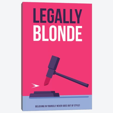 Legally Blonde Minimalist Poster Canvas Print #PTE286} by Popate Art Print