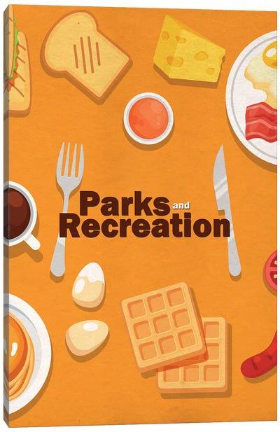 Parks and Recreation Minimalist Poster - Breakfast Food Canvas Art Print