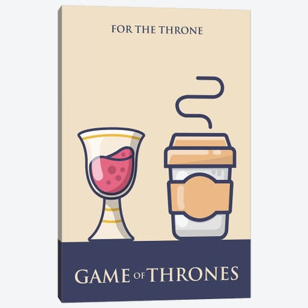 Game of Thrones Minimalist Poster - Long Live the Queen Canvas Print #PTE288} by Popate Canvas Artwork