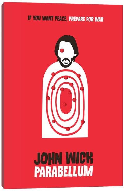 John Wick Parabellum Minimalist Poster Canvas Art Print