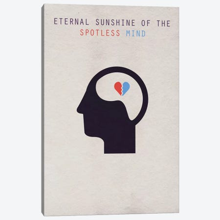 Eternal Sunshine Of The Spotless Mind Minimalist Poster Canvas Print #PTE28} by Popate Canvas Art