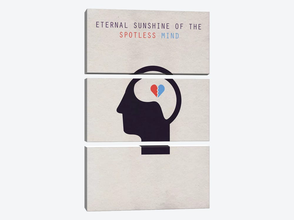 Eternal Sunshine Of The Spotless Mind Minimalist Poster 3-piece Canvas Artwork
