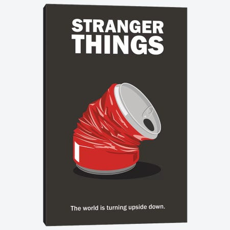 Stranger Things Minimalist Poster - Crushed Can Canvas Print #PTE290} by Popate Art Print
