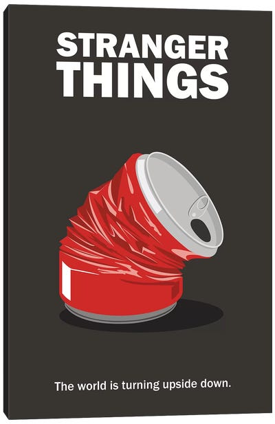 Stranger Things Minimalist Poster - Crushed Can Canvas Art Print