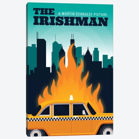 The Irishman Alternative Poster - Chicago Canvas Print #PTE292} by Popate Art Print