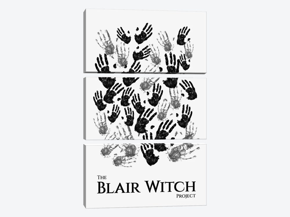 The Blair Witch Project Minimalist Poster by Popate 3-piece Canvas Print