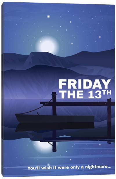 Friday The 13Th Alternative Poster Canvas Art Print