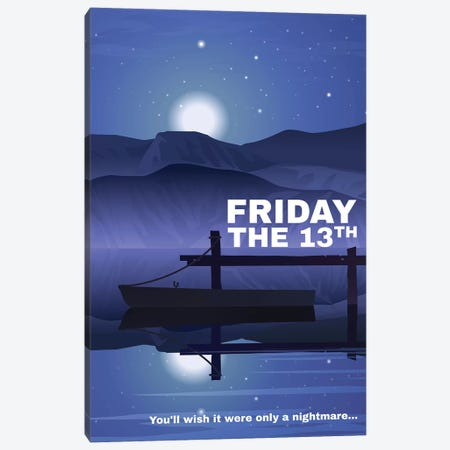Friday The 13Th Alternative Poster Canvas Print #PTE294} by Popate Canvas Artwork
