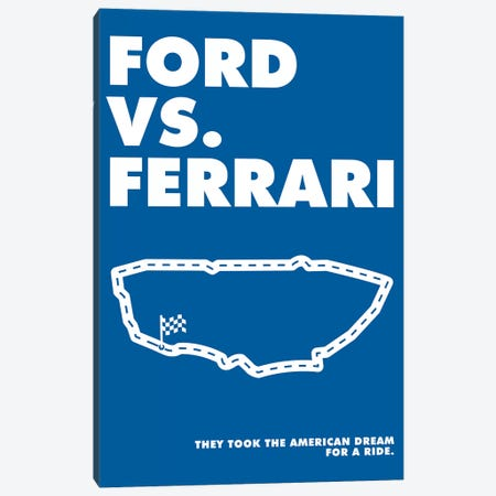 Ford V Ferrari Alternative Poster - Ford Canvas Print #PTE297} by Popate Canvas Artwork
