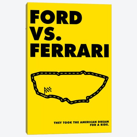 Ford V Ferrari Alternative Poster - Ferrari Canvas Print #PTE298} by Popate Canvas Print