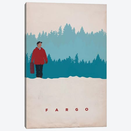 Fargo (Lester Nygaard) Minimalist Poster Canvas Print #PTE29} by Popate Canvas Artwork