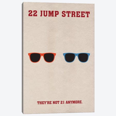 22 Jump Street Minimalist Poster Canvas Print #PTE2} by Popate Art Print