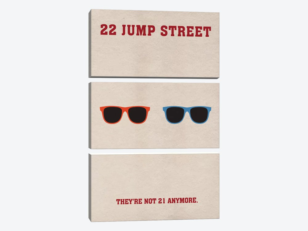 22 Jump Street Minimalist Poster by Popate 3-piece Canvas Art