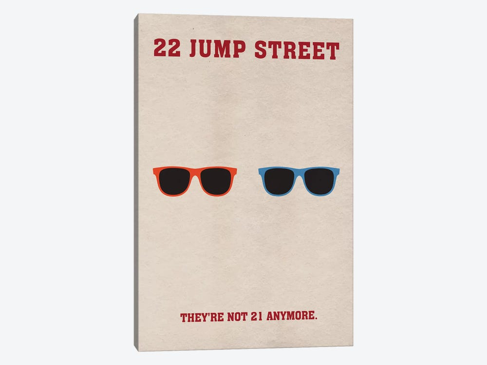 22 Jump Street Minimalist Poster by Popate 1-piece Canvas Art