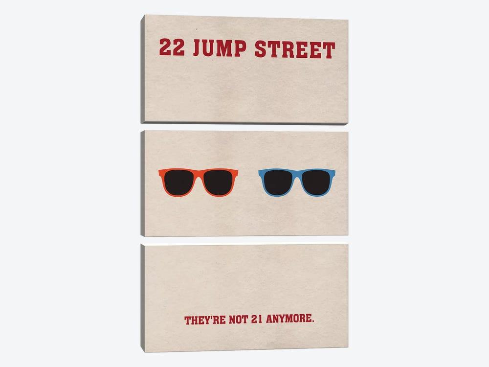 22 Jump Street Minimalist Poster by Popate 3-piece Canvas Art