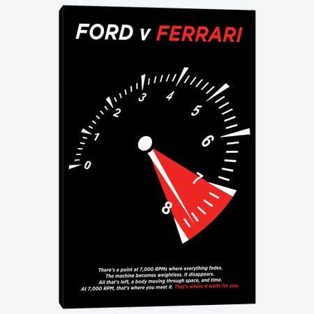 Ford V Ferrari Minimalist Poster Canvas Print #PTE301} by Popate Art Print