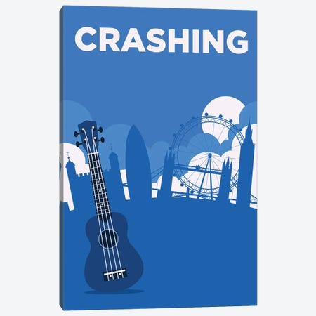 Crashing Minimalist Poster By Popate Canvas Print #PTE309} by Popate Art Print