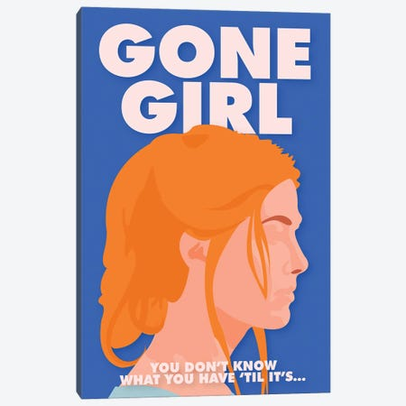 Gone Girl Minimalist Poster By Popate Canvas Print #PTE311} by Popate Canvas Art