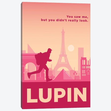 Lupin Minimalist Poster By Popate Canvas Print #PTE312} by Popate Canvas Artwork