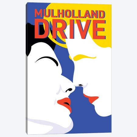 Mulholland Drive Minimalist Poster By Popate Canvas Print #PTE314} by Popate Canvas Print