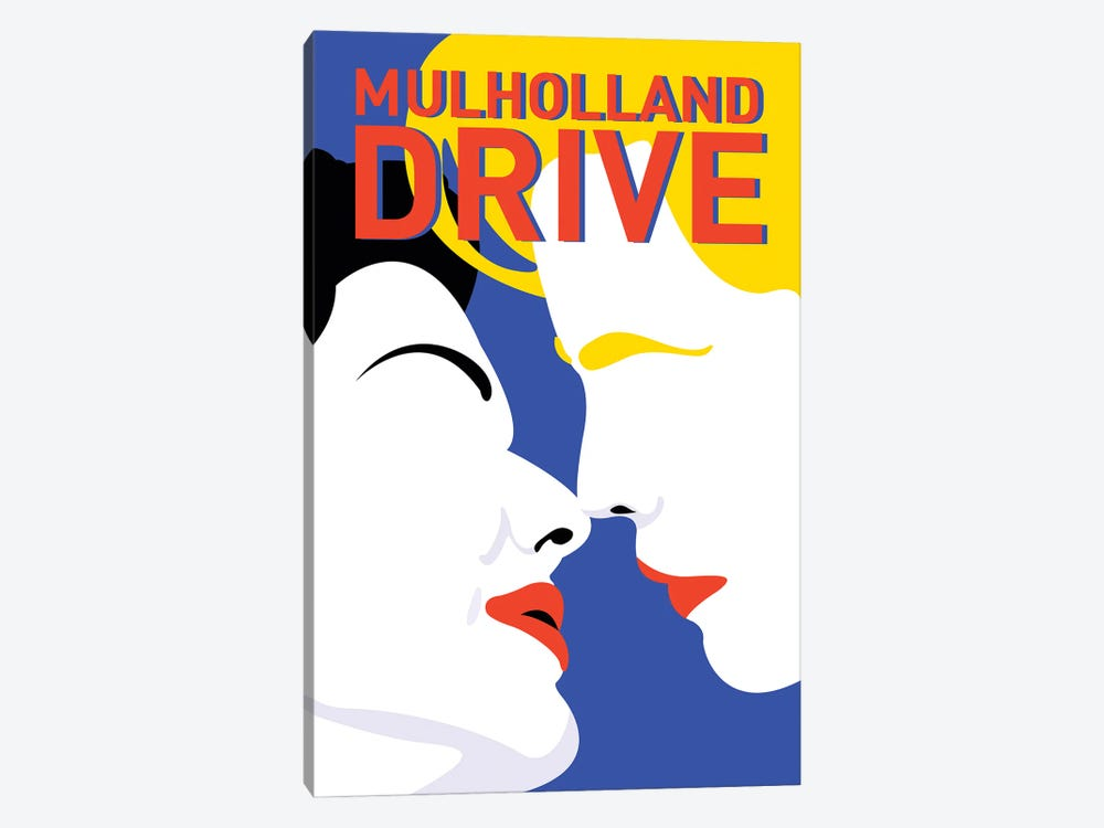 Mulholland Drive Minimalist Poster By Popate by Popate 1-piece Canvas Art Print
