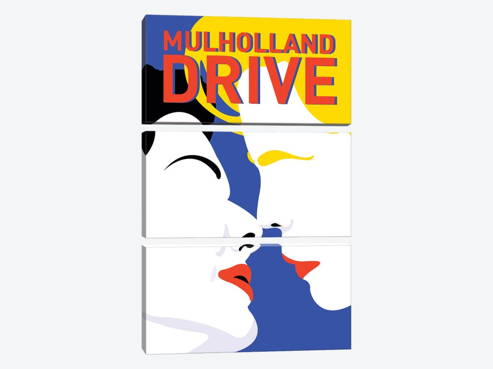 Mulholland Drive Minimalist Poster By Popate by Popate 3-piece Canvas Art Print
