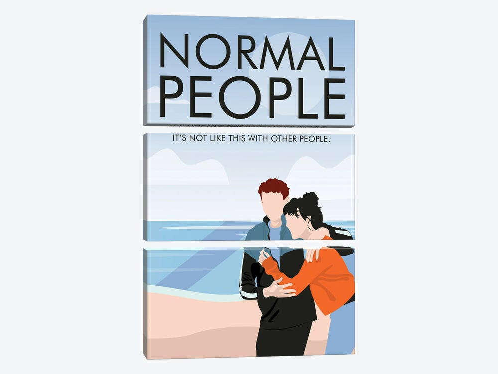 Normal People Minimalist Poster By Popate by Popate 3-piece Canvas Wall Art