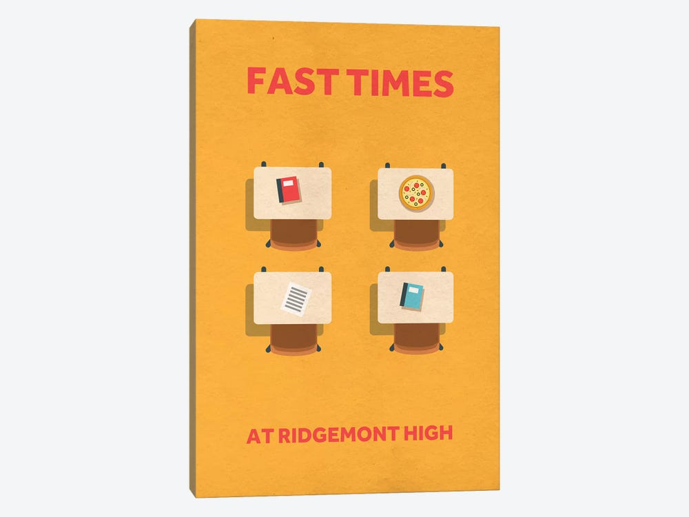 Fast Times At Ridgemont High Minimalist Poster by Popate 1-piece Canvas Art