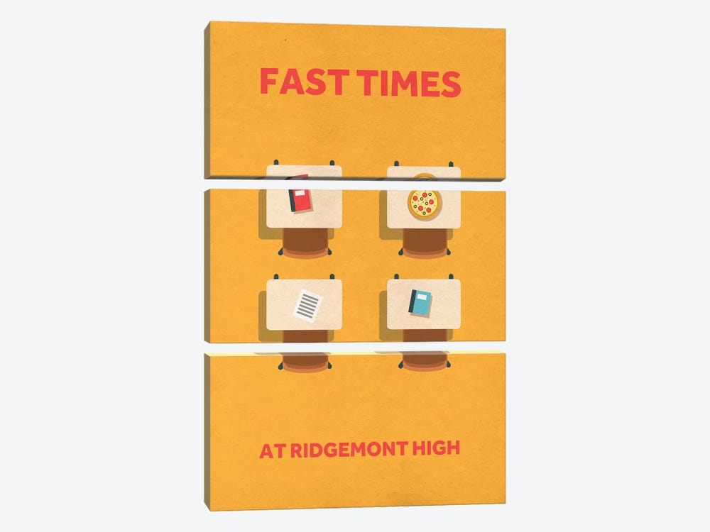 Fast Times At Ridgemont High Minimalist Poster by Popate 3-piece Canvas Art