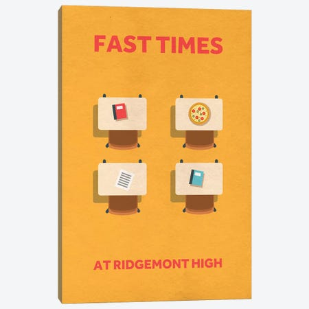 Fast Times At Ridgemont High Minimalist Poster 3-Piece Canvas #PTE31} by Popate Canvas Art Print