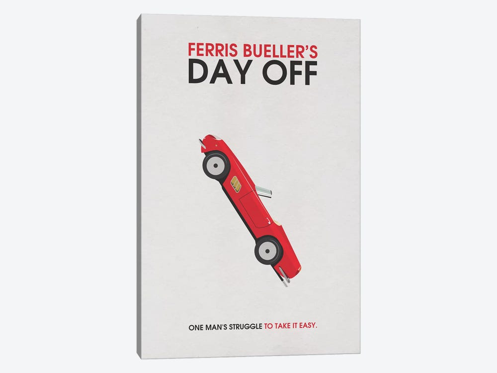 Ferris Bueller's Day Off Alternative Minimalist Poster by Popate 1-piece Canvas Art Print