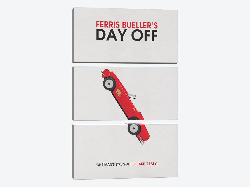 Ferris Bueller's Day Off Alternative Minimalist Poster by Popate 3-piece Art Print