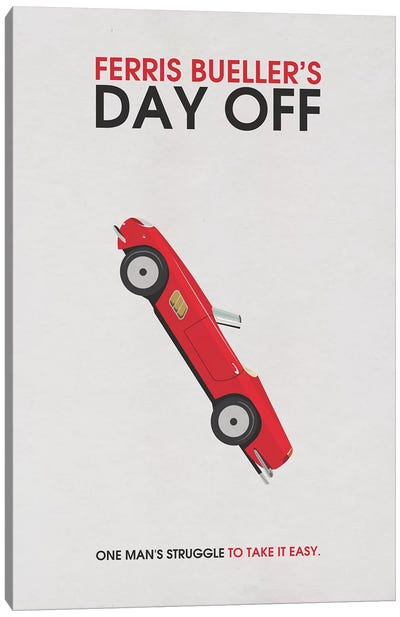 Ferris Bueller's Day Off Alternative Minimalist Poster Canvas Art Print
