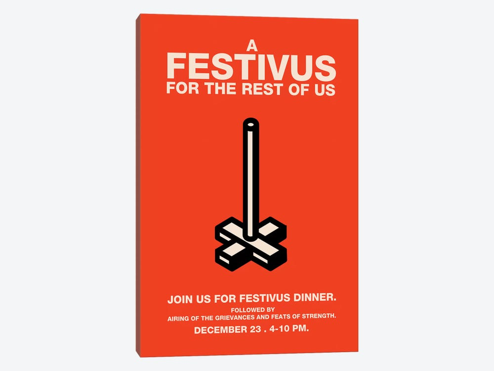 Happy Festivus Vintage Style Invitation Poster by Popate 1-piece Art Print