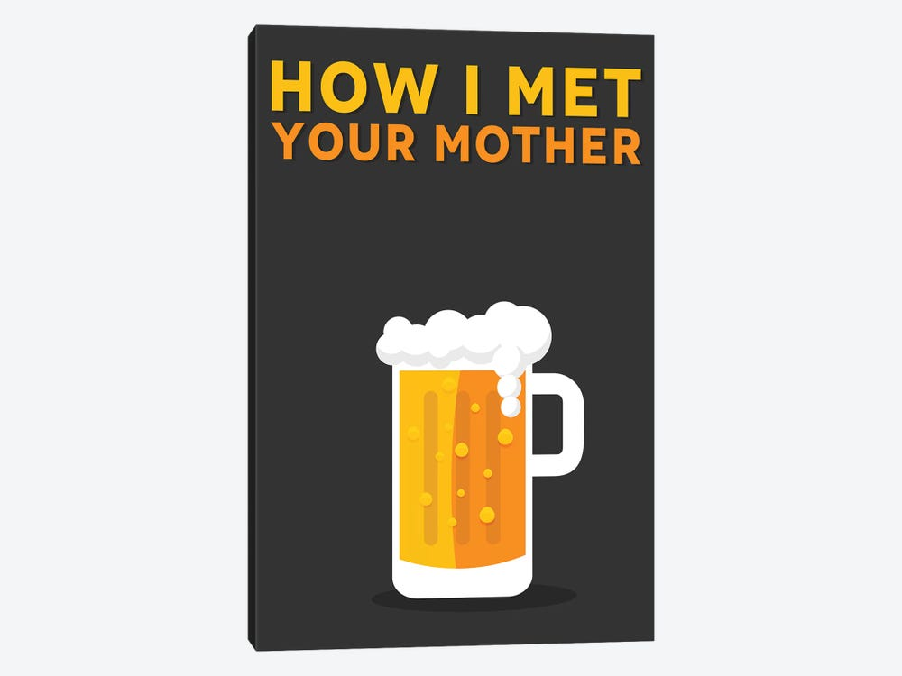 How I Met Your Mother Minimalist Poster by Popate 1-piece Canvas Wall Art